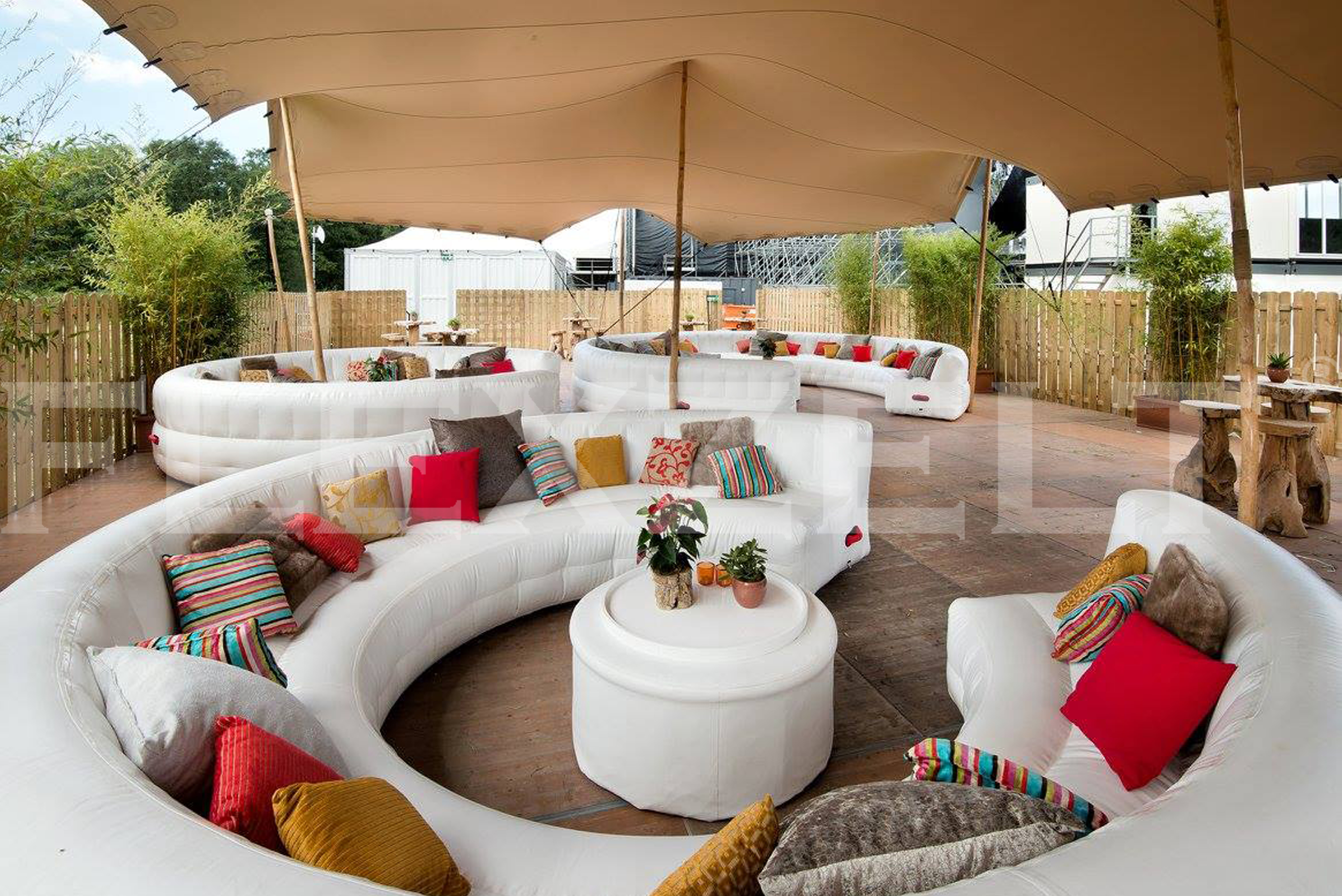 Flexzelt - Flextent - Festival toepassing - Lounge - VIP Area