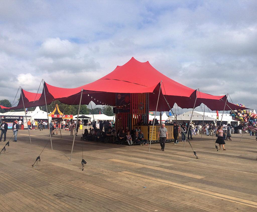 Zelt für Festival mieten