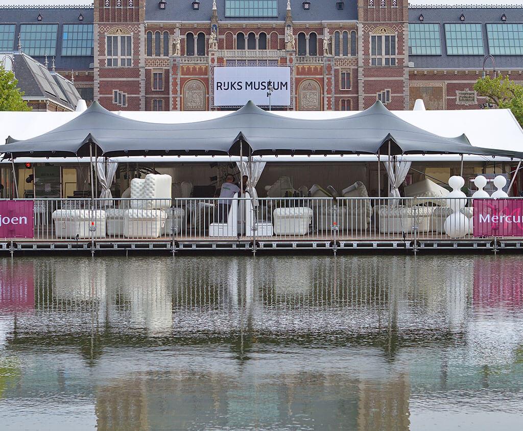 Nomadenzelt bei das Rijkmuseum Amsterdam
