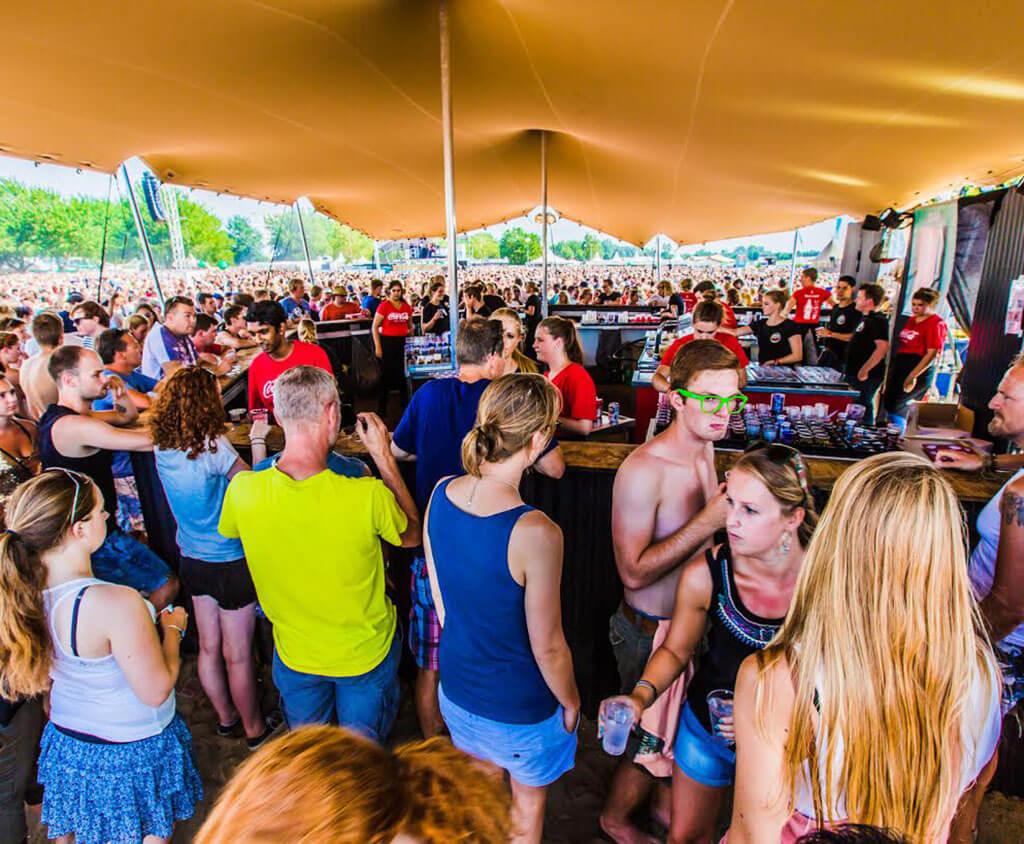 Stretchzelt für festivals
