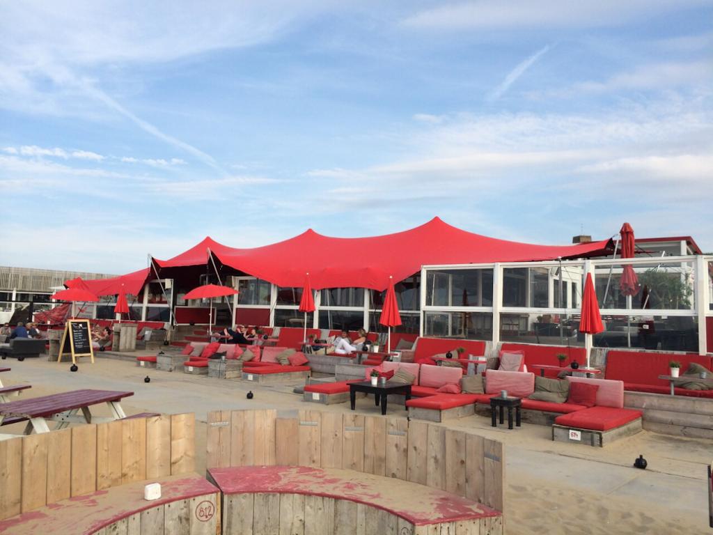 Zeltuberdachung Beachclub Culpepper